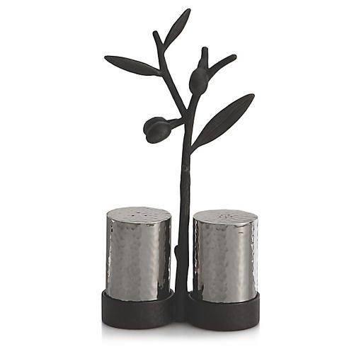 Olive Branch Salt & Pepper Shakers