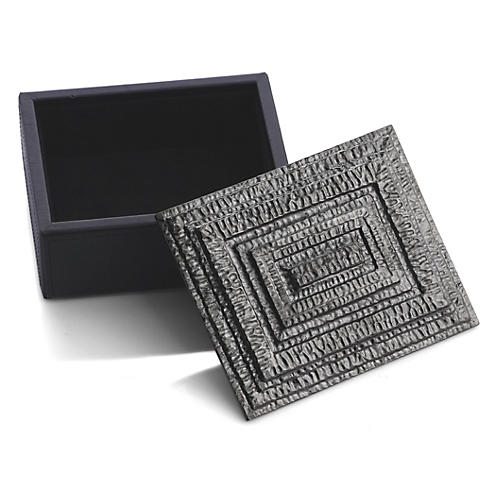 Mini Gotham Jewelry Box, Gray