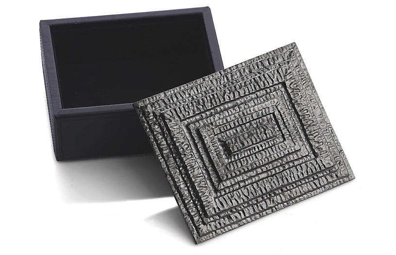 Mini Gotham Jewelry Box - Gray - Michael Aram
