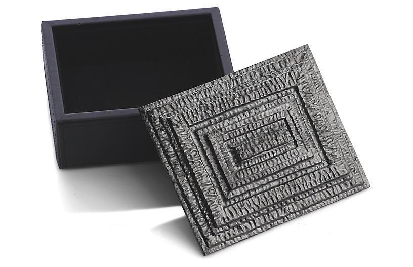 Mini Gotham Jewelry Box - Gray - Michael Aram