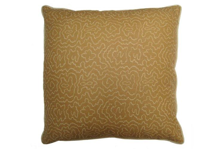Faux Bois Pillow, Tan