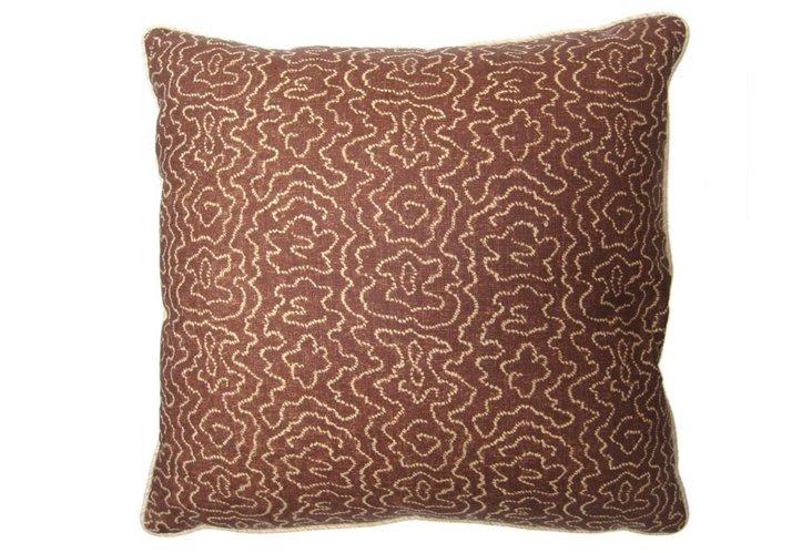 Faux Bois Pillow, Brown