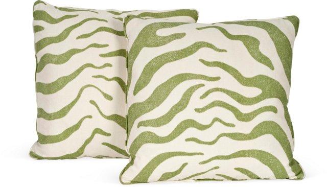 MLB Zanzibar Green Pillows, Pair