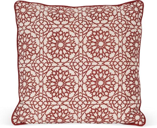 MLB Mamounia Petite Pillow, Crimson