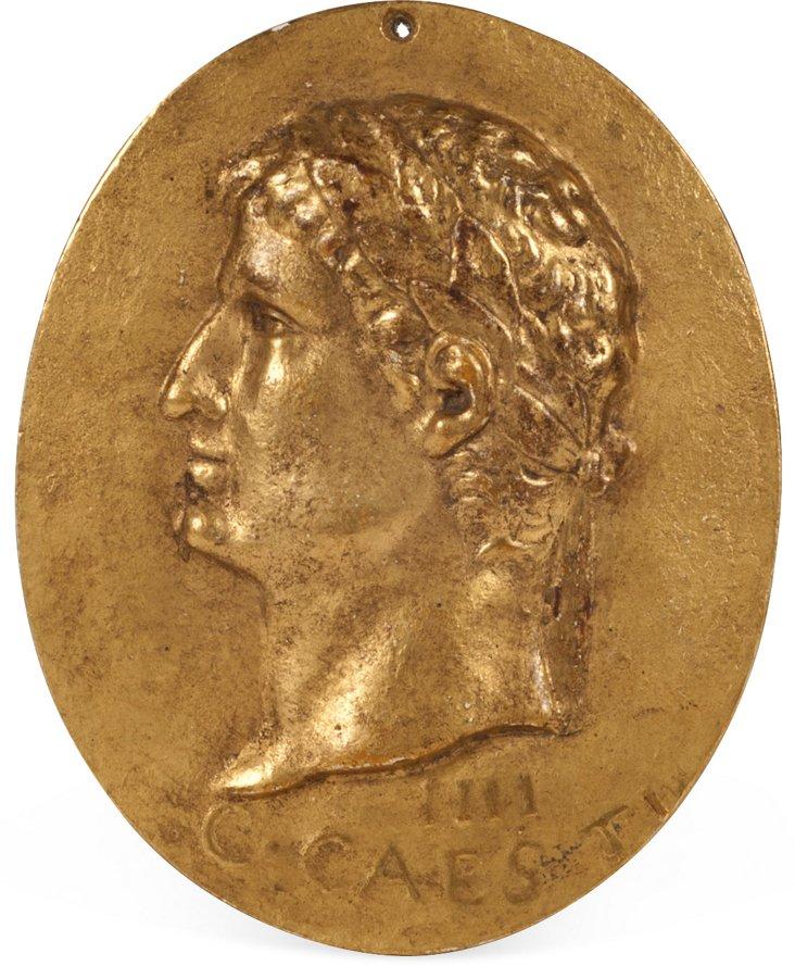 Gilded Roman Emperor Relief IV