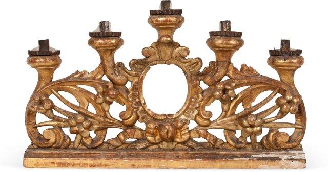 Antique Gilded Candelabra II