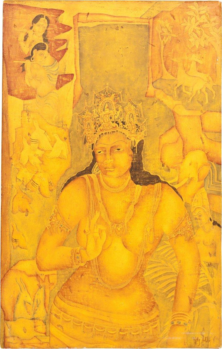 Indian Painted Art Piece II