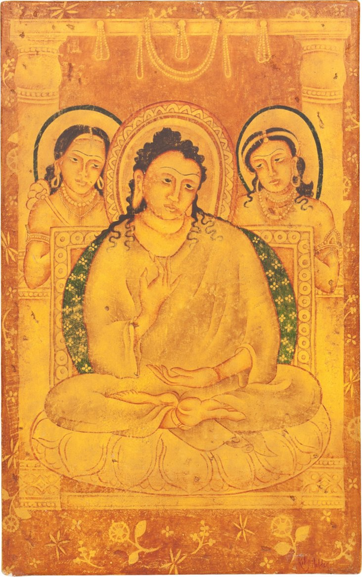 Indian Painted Art Piece IV