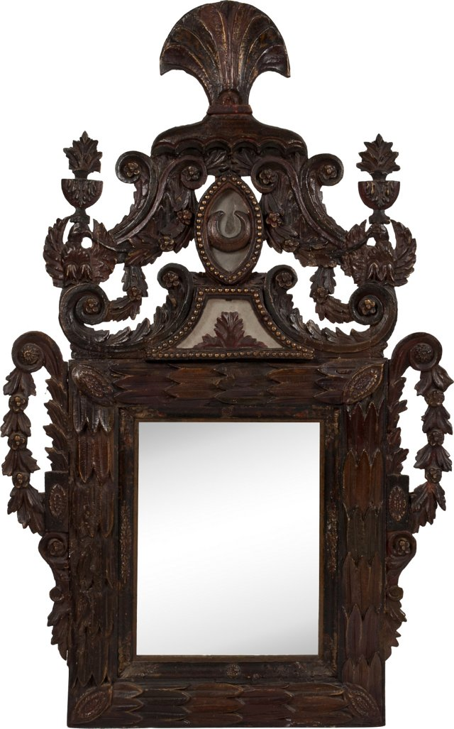 Elaborately Carved Mirror