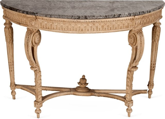 Tasso Console w/Marble Top