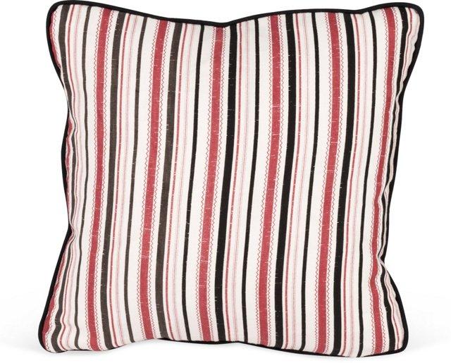 MLB Turkish Ticking Pillow, Red/Black