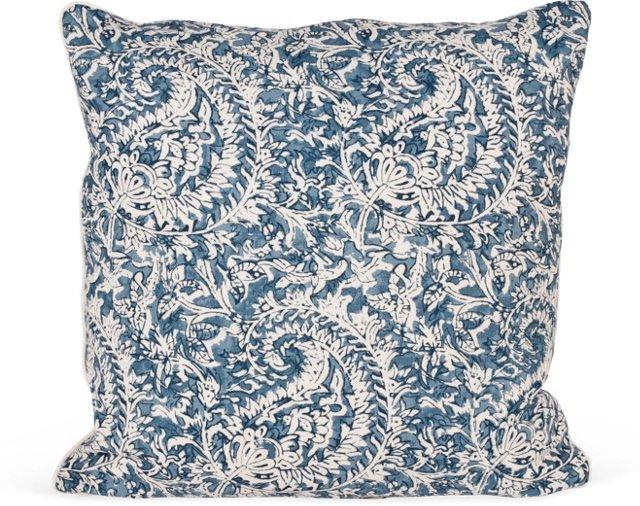 MLB Taman Paisley Pillow, Blue