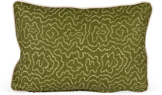 MLB Faux Bois Pillow, Forest