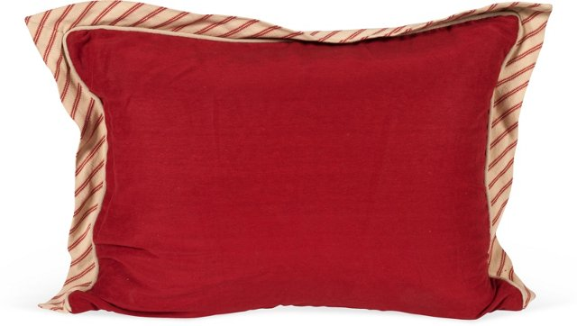 MLB Red Pillow w/ Red & Tan Flange