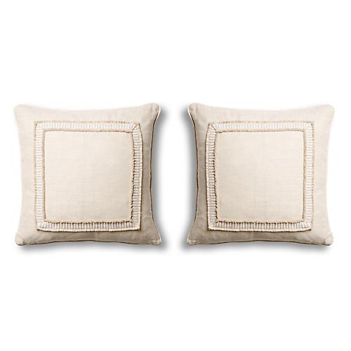 S/2 Tape Pillows, Natural
