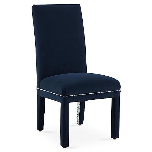 Alton Side Chair, Navy/Blue Bundi
