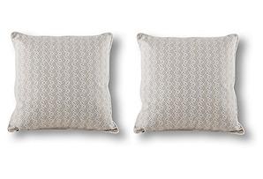 S/2 Bundi 18x18 Pillows, Jute/White*