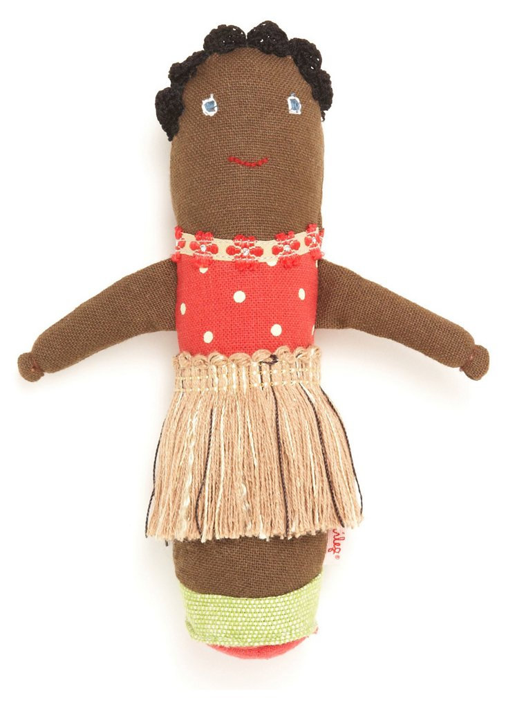 Hula Girl Baby Rattle