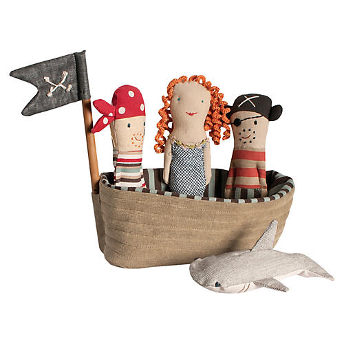 Pirate Ship Plushy Set