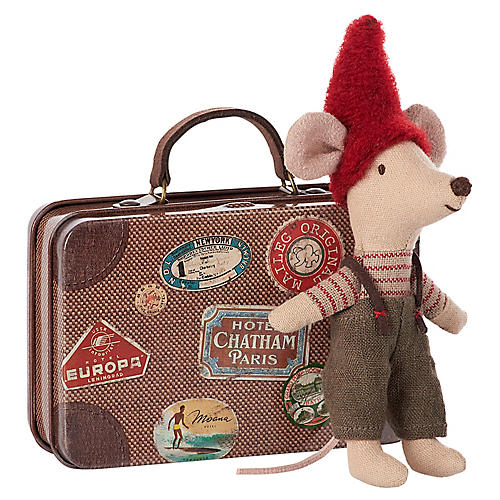 Christmas Mouse Plush Toy Set, Brown/Multi