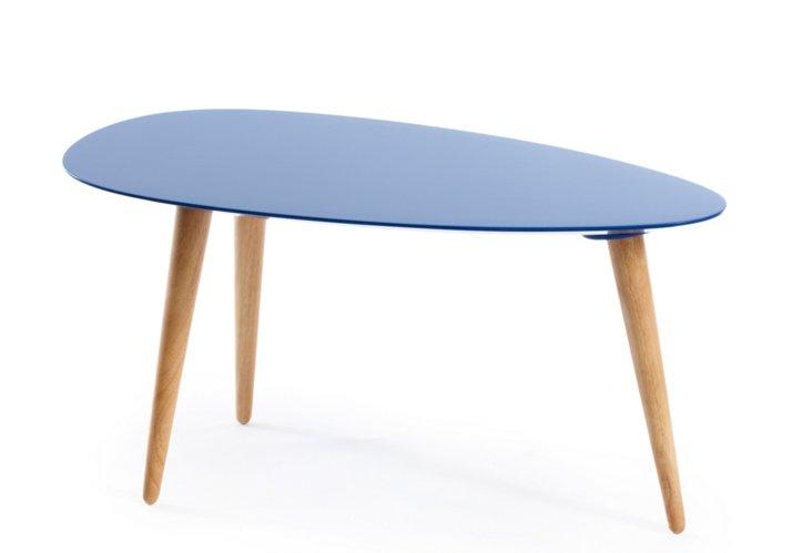 Small Egg Table, Cobalt Blue