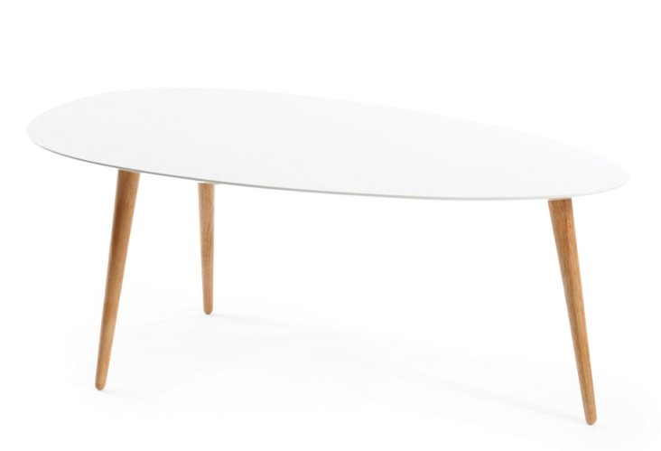 Large Egg Table, White