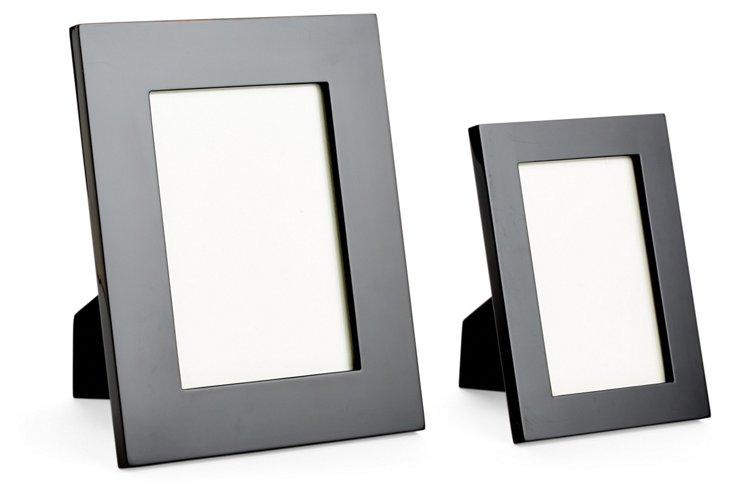 Asst. of 2 Lacquer Frames, Black