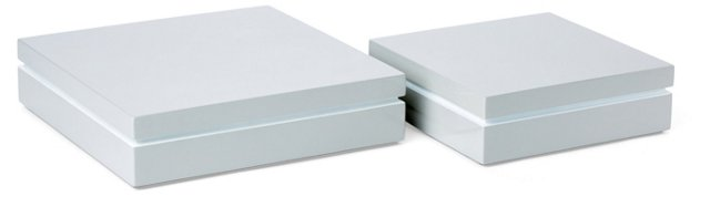 Asst. of 2 Lacquer Boxes, Gray