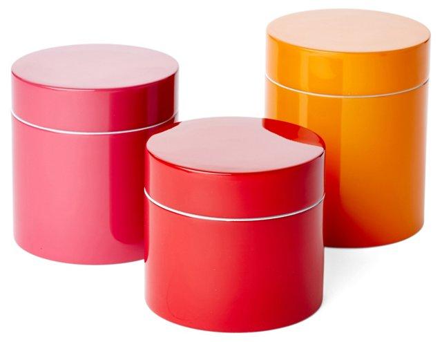 Asst. of 3 Lacquer Jars, Citrus