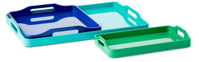 Asst. of 3 Oceanic Lacquer Trays