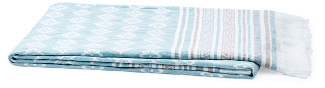Kaleidoscope Cotton Beach Blanket, Teal