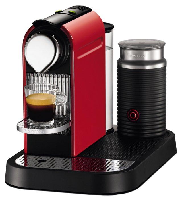 Citiz Espresso Maker w/ Frother, Red