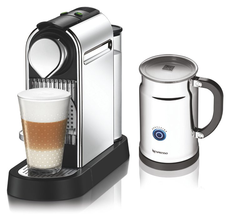 Citiz Espresso Maker w/ Frother, Chrome