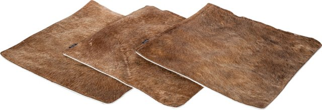 Large Cowhide Pillow Shams, Set of 3