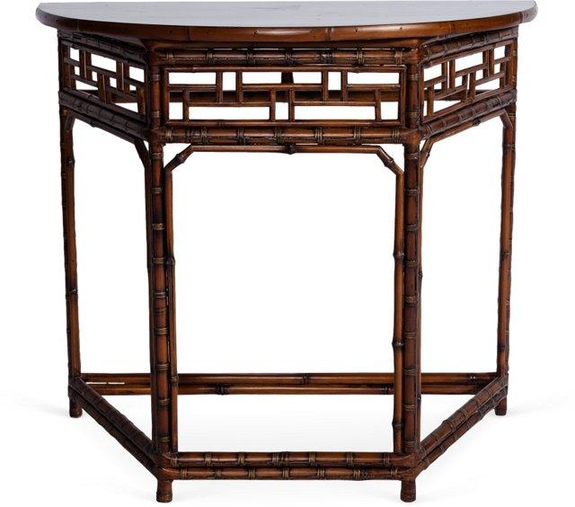 Bamboo Half-Moon Table