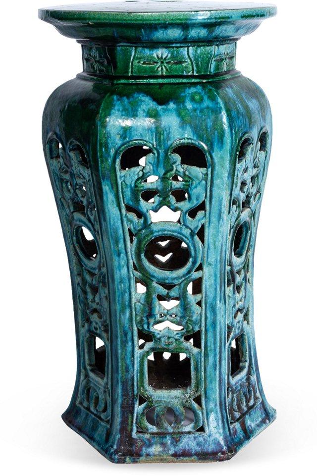 Green Glaze Pedestal