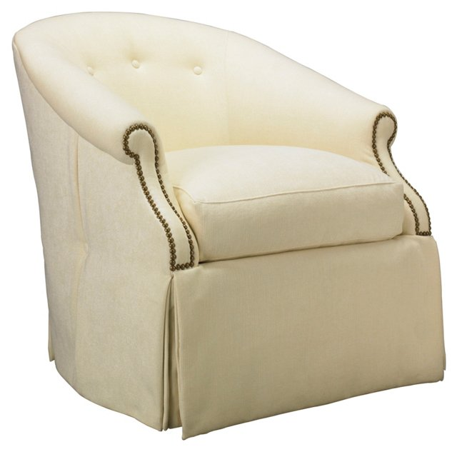 Seaside Skirted Chair, Cream