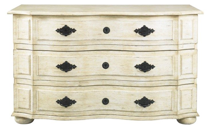 Normandie Commode, Antiqued White