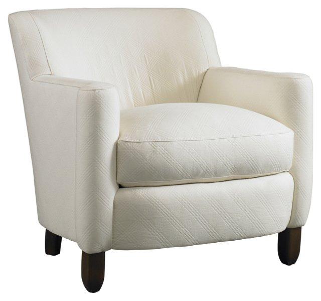 Duchess Cotton Club Chair, White