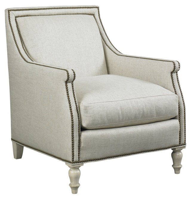 Deans Lounge Chair, Beige-Ivory