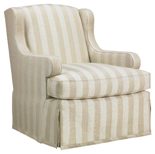 Sedan Linen Skirted Chair