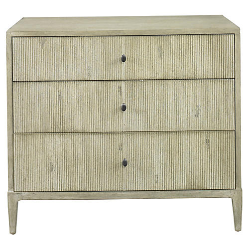 Reedy 3-Drawer Dresser, Blanc