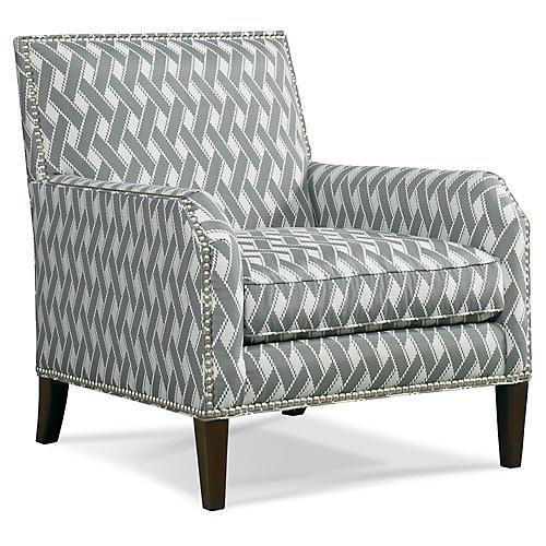 Parker Club Chair, Gray Lattice