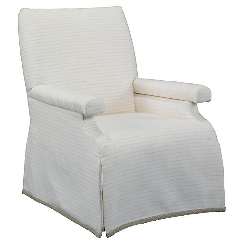 Tracy Slipcovered Chair, Cream