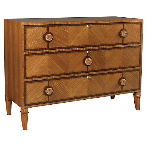 Exotic Commode Dresser, Rosewood