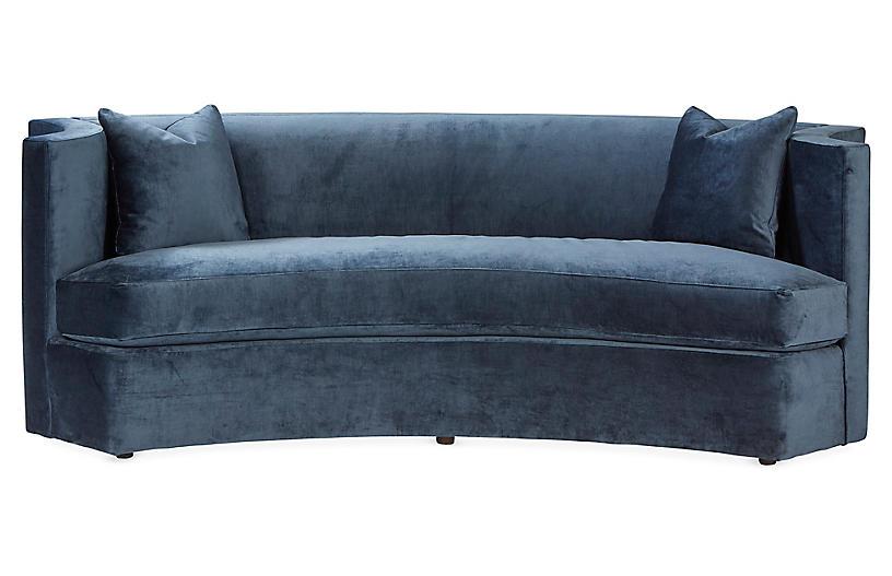 Arc Sofa, Navy Velvet