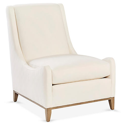 Diego Accent Chair, Ivory