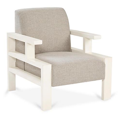 Mondrian Accent Chair, Gray