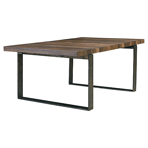Caracas Dining Table, Black/Natural
