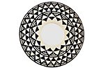 Aztec-Style Woven Mirror, Black